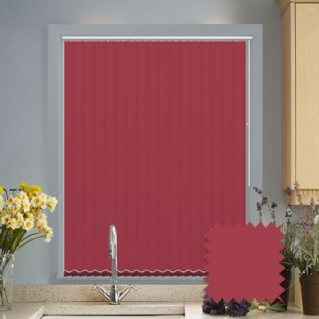Red vertical blinds - Made to Measure vertical blind in Splash Chilli